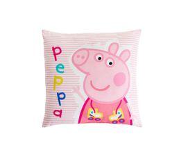 Coussin 40x40 cm PEPPA PIG RECREATION Blanc/Rose