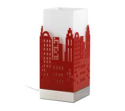 GRATTE-CIEL Lampe de chevet Rouge