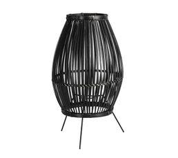 Lampe bambou H. 30 cm ETNIK noire