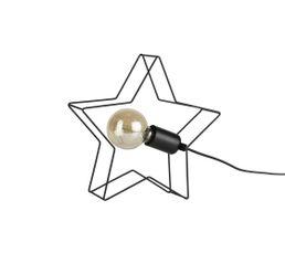 Lampe filament étoile métal STELLA noir