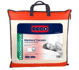 Oreiller ergonomique 60x60 cm DODO MEMORY COCOON