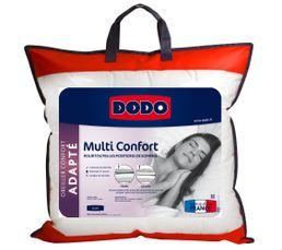 Oreiller adapté 60x60 cm DODO MULTI CONFORT
