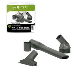 HOME EQUIPEMENT Brosse Kit 3 suceurs multidiamètre