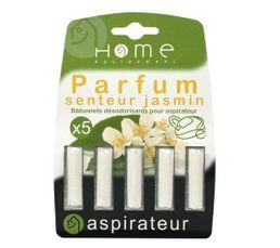 HOME EQUIPEMENT Parfum aspirateur Jasmin x 5 batonnets