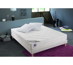Sommier 160x200 cm + pieds  MELODY