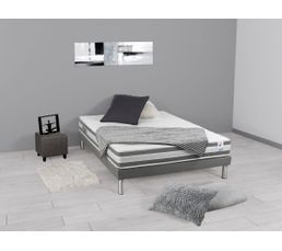 sommier tapissier 160x200 cm avec pieds duo sommiers but. Black Bedroom Furniture Sets. Home Design Ideas