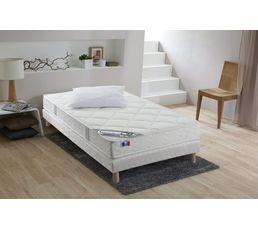 Matelas 90x190 cm mousse accueil latex + 1 oreiller ESTRELLA