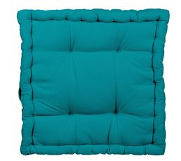 coussin de sol 40x40 cm rainbow 2 bleu coussins but. Black Bedroom Furniture Sets. Home Design Ideas