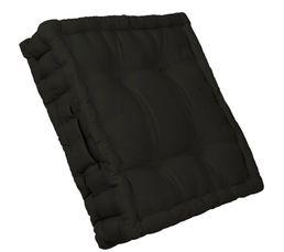 Coussin de sol 40x40 cm RAINBOW 2 noir