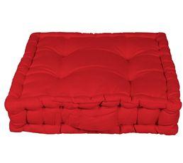 coussin de sol 40x40 cm rainbow 2 rouge coussins but. Black Bedroom Furniture Sets. Home Design Ideas