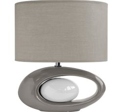 Lampe à poser WARREN XL Gris/Blanc