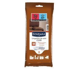 STARWAX entretien cuir Lingette Soin du Cuir x18