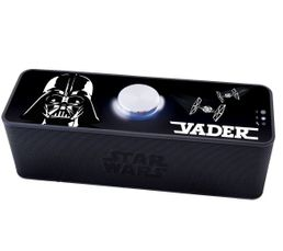 Star Wars Micro intégré idéal pour vos conférences téléphoniques Effet lumineux autour du bouton central Type enceinte : Nomade bluetooth Bluetooth : Oui Portée Bluetooth en mètres : 10 mètres Rechargeable : Oui Autonomie : Jusqu'à 4h Dispo pcs détachées