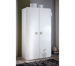 Armoire 2 portes bébé KITTY Blanc - Armoires BUT