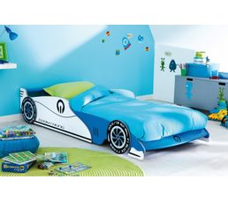 Lit enfant voiture GRAND PRIX Bleu