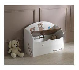 coffre jouets tedly blanc et beige coffres jouets but. Black Bedroom Furniture Sets. Home Design Ideas