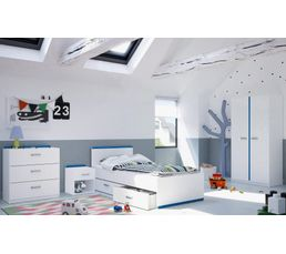 Lit 90x190 cm REVERSO blanc