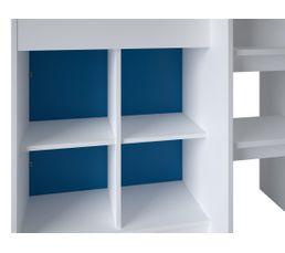 Lit combiné 90x190cm/bureau REVERSO blanc