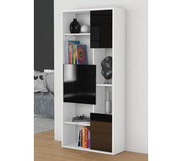 Bibliothèque TREND Blanc et noir / H. 180,20 cm