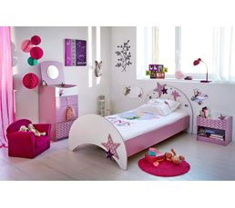 lit 90 x 190 cm fee lilas 299408 lits but. Black Bedroom Furniture Sets. Home Design Ideas