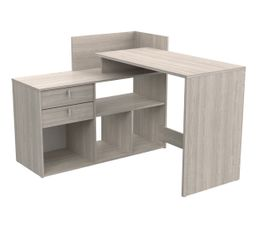Bureau Dangle Reversible Vista Imitation Chene