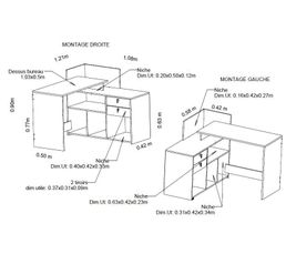 type bureau d 39 angle meuble bureau et ordinateur pas cher. Black Bedroom Furniture Sets. Home Design Ideas