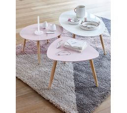 Table basse scandinave ronde manon rose tables basses but - Table basse scandinave ronde ...