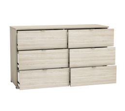 PERFECT Commode 2x3 tiroirs imitation chêne