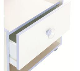 Chevet FLOCONS blanc perle
