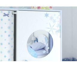 Armoire 2 portes Flocons blanc perle
