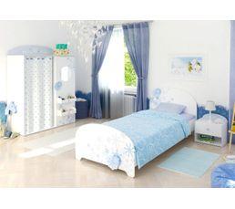 lit 90 x 190 cm flocons blanc perle - lits but