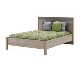 lit 140x190 cm maya imitation ch ne griff pas cher avis et prix en promo. Black Bedroom Furniture Sets. Home Design Ideas