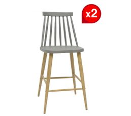 tabouret de bar scandinave minki gris tabourets but. Black Bedroom Furniture Sets. Home Design Ideas