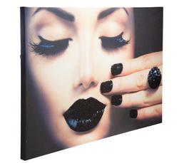 BLACK Toile paillette 50X70 Imprimé