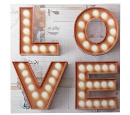 LEDS LOVE Toile 60X60 Taupe