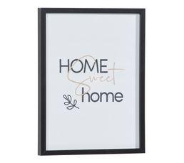 Image 30x40 cm HOME SWEET HOME Noir / Blanc