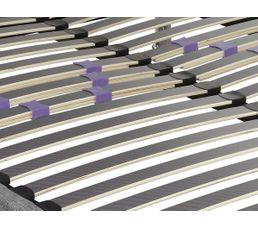 Sommier tissu 140 x 190 cm DECOKIT GRIS CHINE