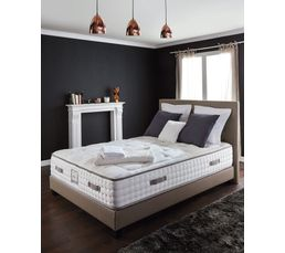 sommier pu taupe 140x190 cm signature charme ressorts sommiers but. Black Bedroom Furniture Sets. Home Design Ideas
