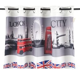 Rideau 135x250 cm LONDON imprimé