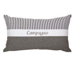 CAMPAGNE Coussin 30 x 50 cm gris