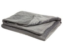 Plaid 130x170 cm SWARO gris