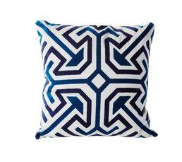 VINTAGE Coussin 45 x 45 cm Bleu