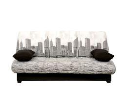 -25% sur l'ensemble : Banquette-lit CC 140 cm KHARA DUNLOPILLO LATEX + Housse Manhattan