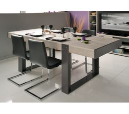 Table de s jour stan beige et gris tables but for Table de sejour