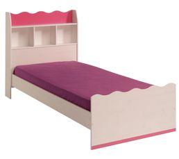 lit enfant 90x190 cm lolita coloris pin et rose - Lit Enfant Fille