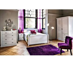commode 4 tiroirs khate gris - Commode Chambre But