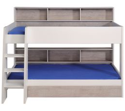 Lit superpos et mezzanine pas cher - Lit double superpose adulte ...