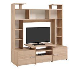 Meuble tv pas cher for Meuble tv haut avec rangement
