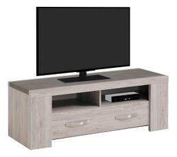 Meuble TV L.134,5 cm MALONE Chêne gris