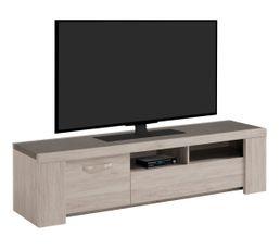 Meuble TV L.183 cm MALONE Chêne gris